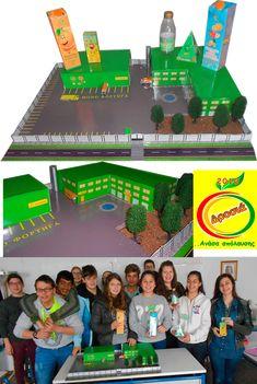 Ομαδική εργασία για το μάθημα της τεχνολογίας στη β΄τάξη γυμνασίου , με θέμα την κατασκευή προϊόντων και μακέτας βιομηχανίας χυμών Games, Gaming, Plays, Game, Toys