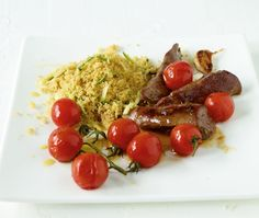 Zucchini-Couscous mit Lammfilet Rezept - ESSEN & TRINKEN