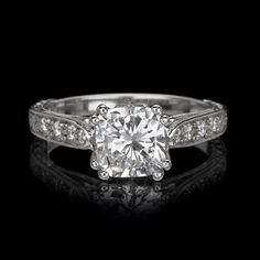 Customize your engagement ring choosing from Juniker Jewelry's exclusive Mississippi Heritage Collection.  Add your favorites to your wish list!   Pictured – The Pelahatchie #heritagecollection, #thewest, #engagementring, #diamondring http://www.junikerjewelry.com/the-pelahatchie