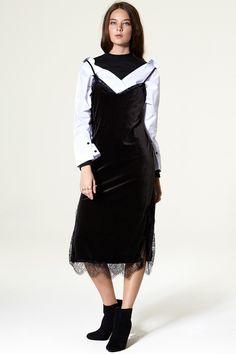 Nari Velvet Slip Dress Discover the latest fashion trends online at storets.com
