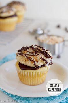 Cupcake Recipes : Samoa Cupcakes