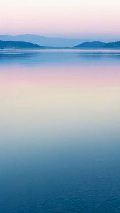 Pure Calm River Mountain Skyline Scenery #iPhone #6 #plus #wallpaper