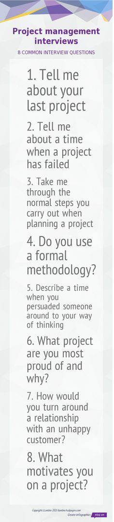 Common #projectmanagement interview questions