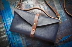 Handmade Leather Clutch by Flux Productions. Beautiful!