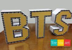 Letras 3D BTS - Gala Birthday Party For Teens, 10th Birthday, Bts Cake, Bts Birthdays, Creative Instagram Photo Ideas, Korean Stationery, Creation Deco, Bts Merch, Idee Diy