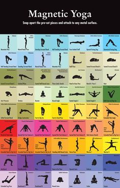 Yoga magnets? I hope these are real as this would be an awesome way of putting together your own work out!