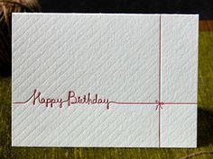 beautiful letter press card