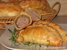 Pierogi, Pork, Bread, Kale Stir Fry, Brot, Baking, Breads, Pork Chops, Buns