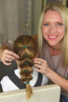 Beth says this hairstyle is ideal for sporty girls kids hairstyles Mum unveils five no-fuss hairstyles YOU can do on your girls before they go to school Girls Hairdos, Baby Girl Hairstyles, Trendy Hairstyles, Braided Hairstyles, Teenage Hairstyles, Hairstyles 2016, Short Haircuts, Easy Little Girl Hairstyles, Boy Haircuts