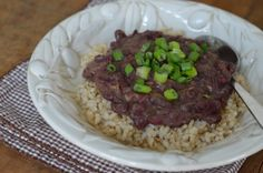 Recipe: Red Beans and (Brown) Rice - 100 Days of Real Food - 4 oz bacon