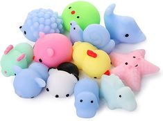 Stress Toys, Stress Relief Toys, Figet Toys, Kids Toys, Squishy Packs, Animal Squishies, Minnie Mouse Toys, Cool Fidget Toys, Really Cute Nails