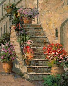 Italian Staircase, Kent Wallis