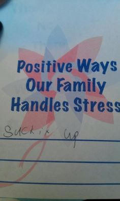 Positive ways our family handles stress
