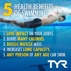 These health benefits are just a few reasons to LOVE swimming,