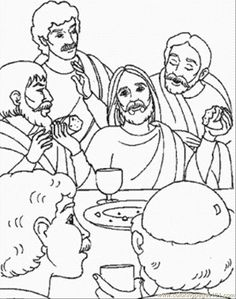 last supper coloring pages | free printable coloring page Last Supper Of Jesus (Other > Religions)