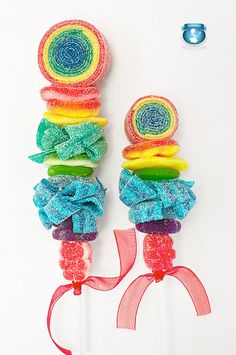 12 Rainbow Candy Kabobs by SweetsIndeed on Etsy, $49.00