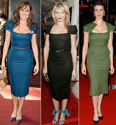 In the middle of the decade, Roland Mouret introduced his iconic Galaxy dress which became an instant hit with celebs Hourglass Figure Outfits, Hourglass Dress, Hourglass Shape, Dress For You, Dress Me Up, Dress Skirt, Bodycon Dress, Fifties Fashion, Fifties Style