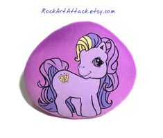 My little pony Hand Painted Stone  by RockArtAttack!