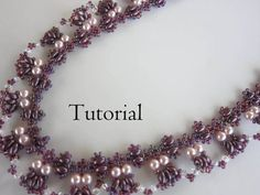 PDF beading tutorial pearl seed bead necklace_ by BeadsMadness