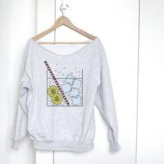 weicher Pullover mit Illustration // art print sweatshirt via DaWanda,com