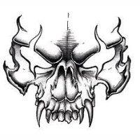 Evil Skull Tattoo, Skull Tattoo Design, Tattoo Design Drawings, Skull Tattoos, Tattoo Sketches, Body Art Tattoos, Tattoo Designs, Evil Tattoos, Skull Design