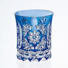 kiriko glass | Kagami Crystal Edo Kiriko rock glass (T398-1919-CCB / traditional ...