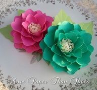 Beautiful custom made paper flowers
