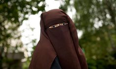 Hind Ahmas, one of two French women facing a fine for wearing the niqab in a town near Paris. Photograph: Magali Delporte for the Guardian