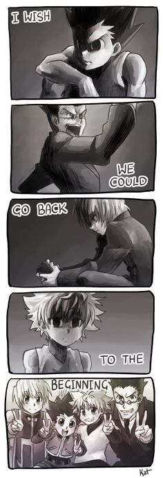 Gon, Leorio, Kurapika, and Killua         ~Hunter X Hunter