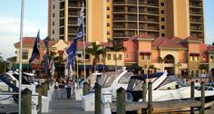 The marina at Cape Harbour, Cape Coral, Florida.