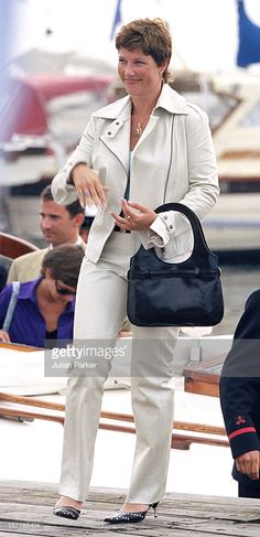 2001.   Princess Martha Louise Of Norway Takes A Boat Trip Around Oslo Prior To The Wedding Of Crown Prince Haakon & Mette-Marit.
