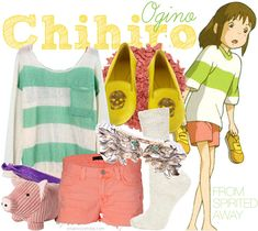 Casual cosplay of Chihiro Ogino (from My Neighor Totoro anime series)-- character inspired outfit