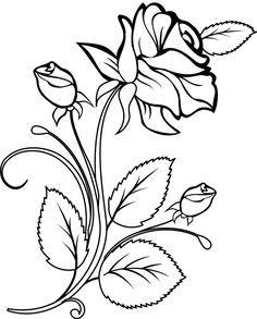 Art Sketches Ideas - Flowers Color Clipart stencil - Free Clipart on Dumielau. Stencil Patterns, Embroidery Patterns, Hand Embroidery, Embroidery Neck Designs, Stencil Templates, Colouring Pages, Adult Coloring Pages, Coloring Books, Doodle Drawing