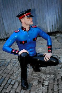 Latex Men Army Outfit