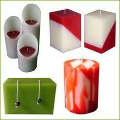 Candle wax art designer candles craft ideas for Candle design for debut