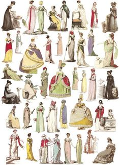 english dress 1805-1835