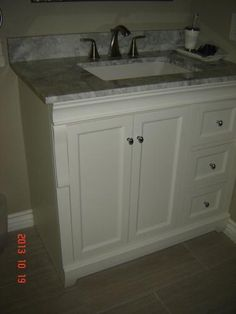 Home Decorators Collection Naples 36 in. W Bath Vanity Cabinet Only in White with Right Hand Drawers & Home Decorators Collection Naples 24 in. W x 17 in. D x 74 in. H ...