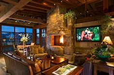 tv-next-to-fireplace-family-room-contemporary-with-wood-beams-contemporary-wallpaper-rolls.jpg 990×658 pixels