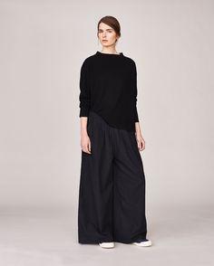 Women's Black Wool Holiday Easy Pullover| Toast #TOASTLATESUMMER15