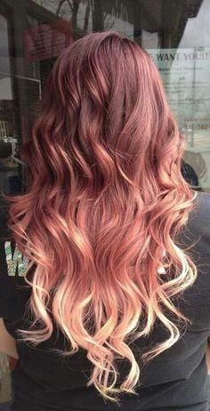 Ah, Rose Gold hair. The perfect blend of pink and red mixed into golden blonde that adds a touch of color to your hair without being too dramatic. To achieve R