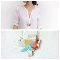 Medium Polymer Clay Necklace Meet Market, Polymer Clay Necklace, Daydream, Tassel Necklace, Mosaic, Medium, Fashion, Moda, Fashion Styles