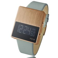 VOID V01 watch by Hong Kong designer David Ericsson available in a copper finish.