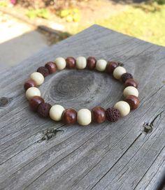 Wooden bead essential oil diffuser bracelet, diffuser bracelet, mens diffuser bracelet, meditation jewelry, lava bead bracelet, wood by SimplyJoyfulJewelry on Etsy https://www.etsy.com/listing/251766576/wooden-bead-essential-oil-diffuser