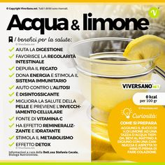 Drinking hot water and lemon in the morning on an empty stomach: the benefits and .- Bere acqua calda e limone al mattino a digiuno: i benefici e 6 ricette Drink hot water and lemon in the morning on an empty stomach: the benefits and 6 recipes! Healthy Snacks, Healthy Recipes, In Natura, Heath And Fitness, Juice Plus, Creative Food, Fitness Diet, Food Videos, Natural Remedies