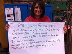 Mom's amazing #Facebook search for the son she gave up for #adoption started with this picture. #parenting