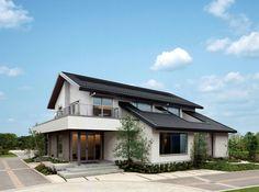 イズオーダー立川展示場外観 Villa Design, Facade Design, Exterior Design, Landscape Architecture Design, Residential Architecture, House Roof, Facade House, Building Design, Building A House