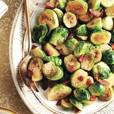 Bonus: Step 1 can be done up to 6 hours in advance. The, finish brussels sprouts in the pan just before serving. Vegetable Side Dishes, Vegetable Recipes, Vegetarian Recipes, Cooking Recipes, Bean Recipes, Thanksgiving Vegetables, Winter Vegetables, Easy Holiday Recipes, Holiday Meals