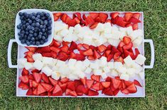 5 Simple Patriotic Desserts    Patriotic Berry and Cake Dessert Platter. (Around My Family Table, via Mighty Girl)