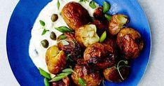 Uusi peruna on parasta, ja savustettuna se on vielä parempaa. Sprouts, Vegetables, Food, Essen, Vegetable Recipes, Meals, Yemek, Veggies, Eten
