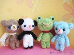 How sweet are these Amigurumi Teddy Bear Keychains and they're all FREE Crochet Patterns! All you need is a crochet hook, small amounts of leftover yarn, a bit of fiberfill, a darning needle, and a key chain and ring. They'll make a lovely gift.